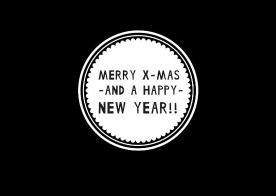 Kerst Zwart Wit Hip Polaroid 2