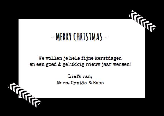 Kerst Zwart Wit Hip Polaroid 3