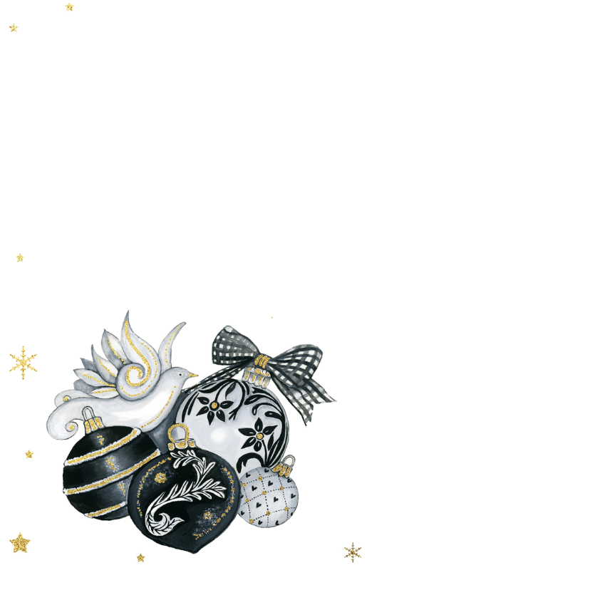Kerst zwartwit ballen 2