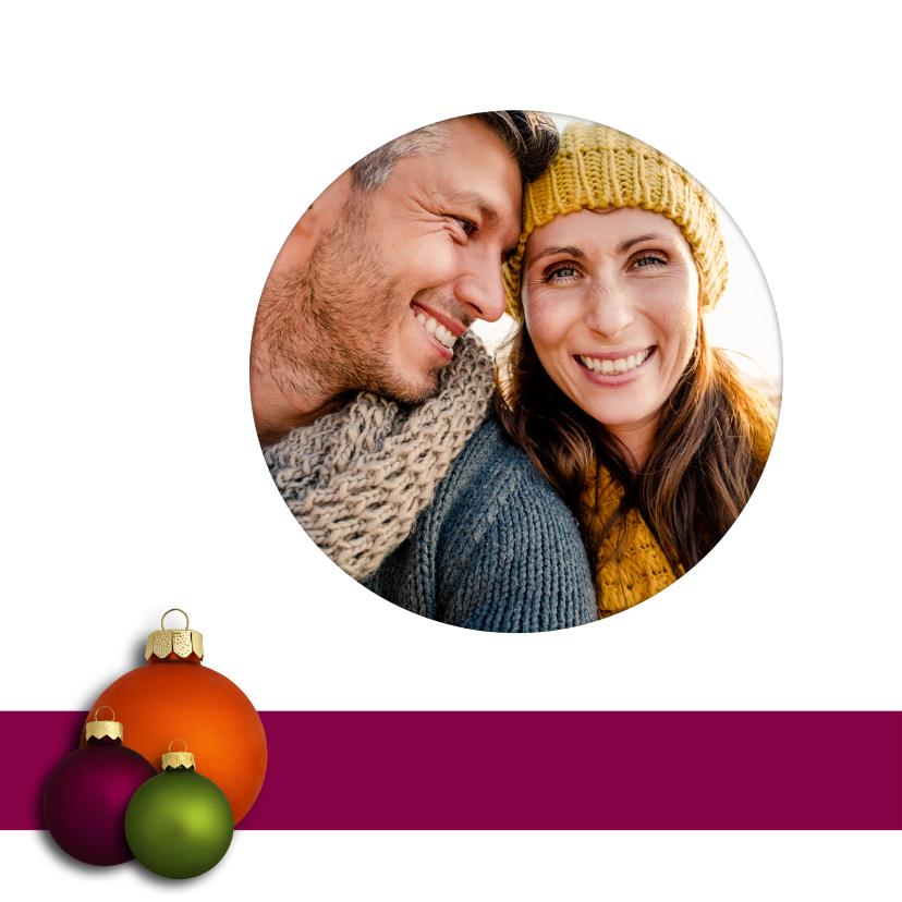 Kerstbal paars oranje groen - OT 2