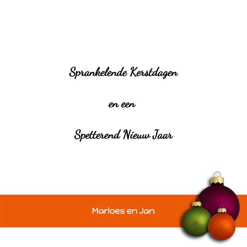 Kerstbal paars oranje groen - OT 3