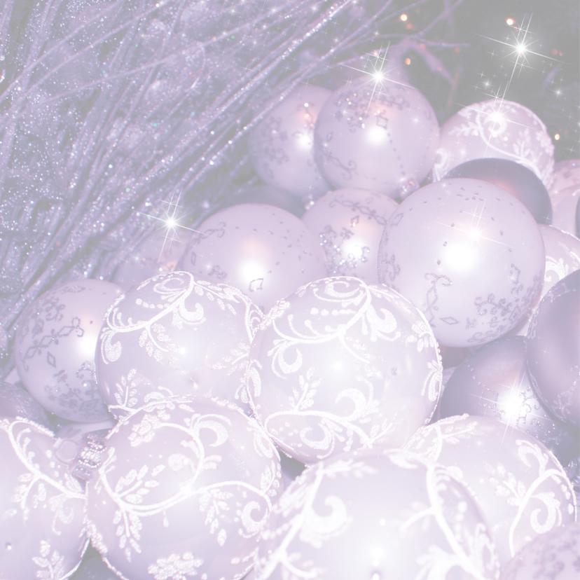Kerstballen paars LB12 2