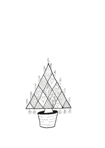 Kerstboom met kaarsen 2