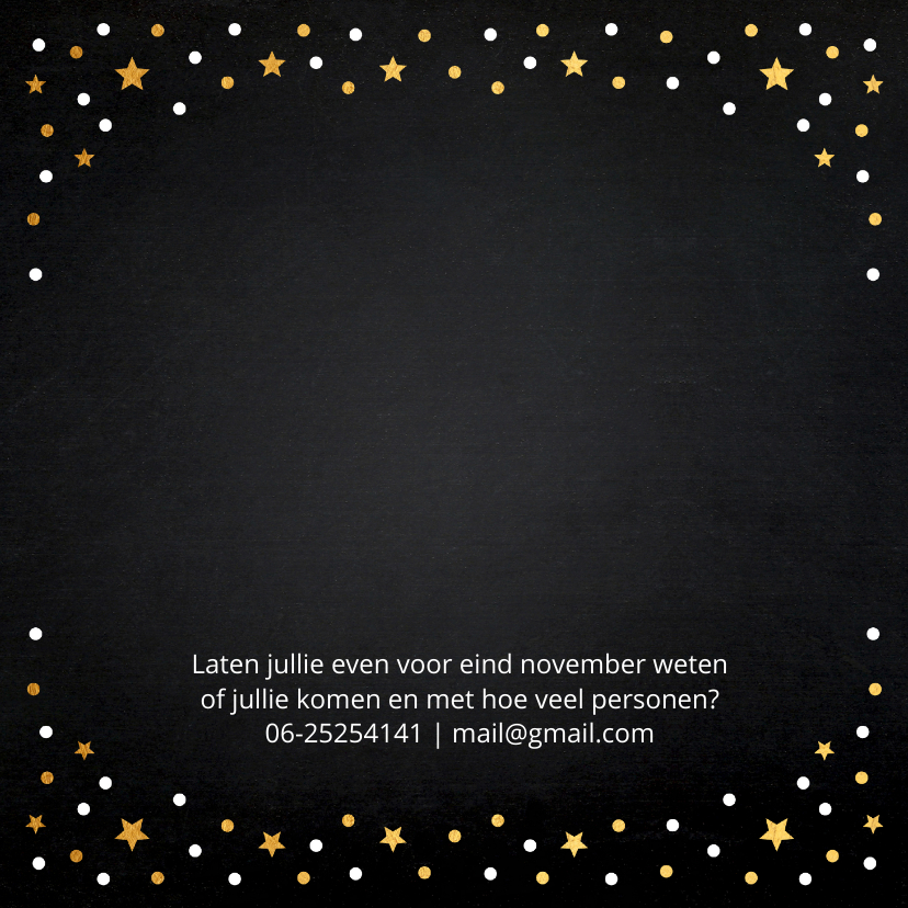 Kerstdiner uitnodiging foto confetti 2