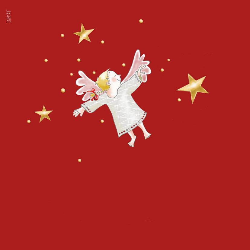 Kerstdiner - uitnodiging met engeltjes 2
