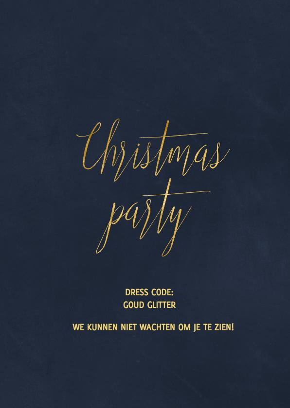 Kerstfeest uitnodiging Goud  3
