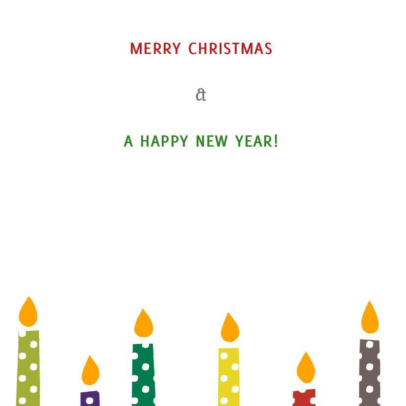Kerstkaarsen met stippen 3
