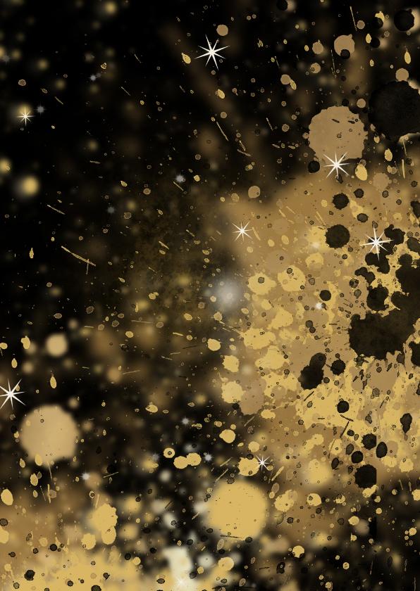 Kerstkaart 2 x foto goud A 2