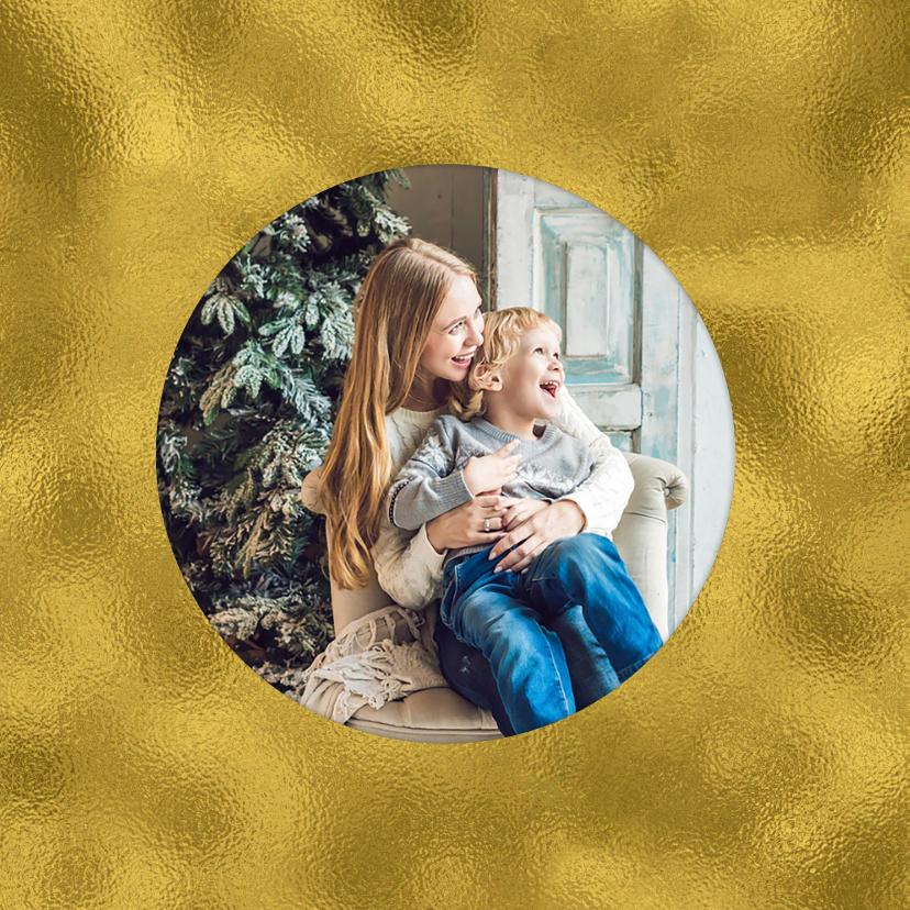 Kerstkaart strak 2019 IJskristal goud 2