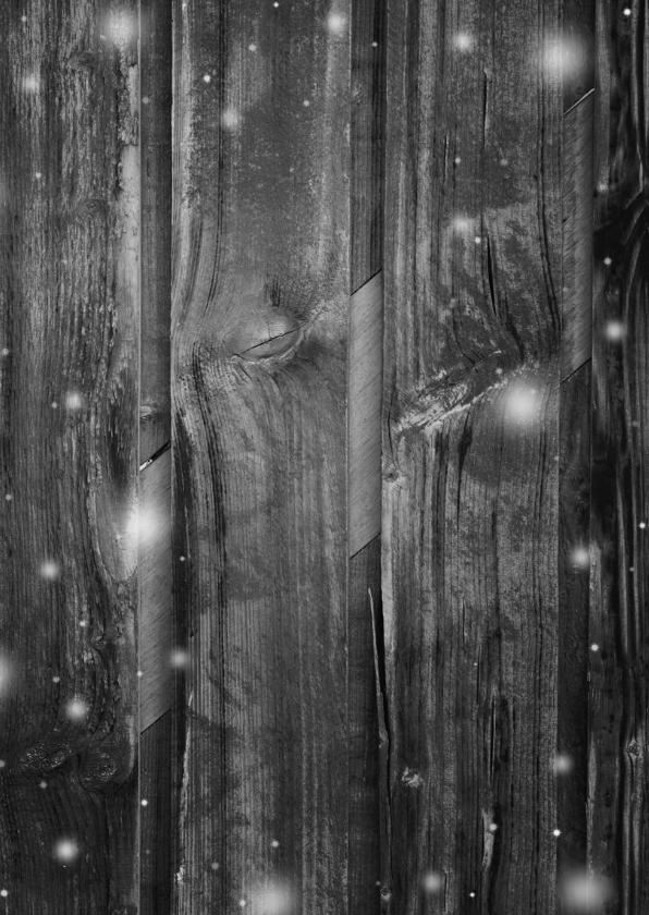 Kerstkaart 2x foto op grijs hout 2