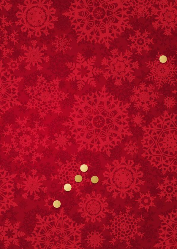 Kerstkaart 4 goudkleurige lijstjes 2