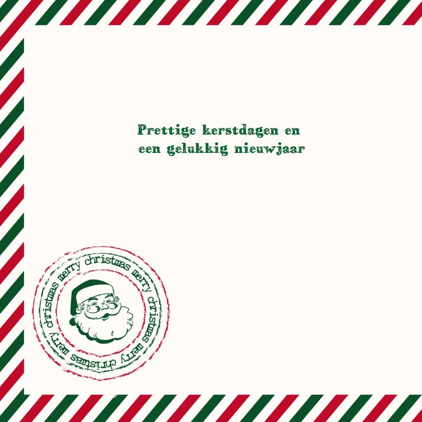 Kerstkaart airmail en foto 2