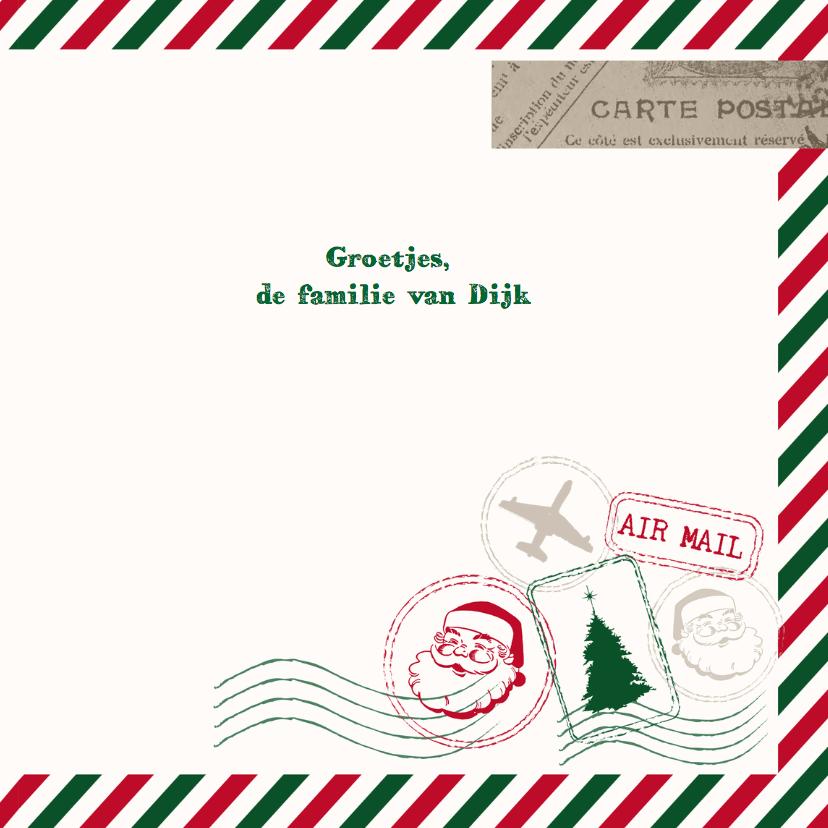 Kerstkaart airmail en foto 3