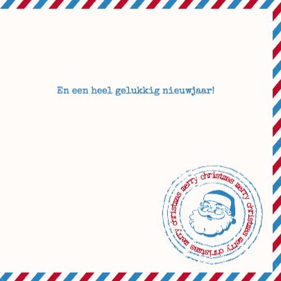 Kerstkaart Airmail Foto 3