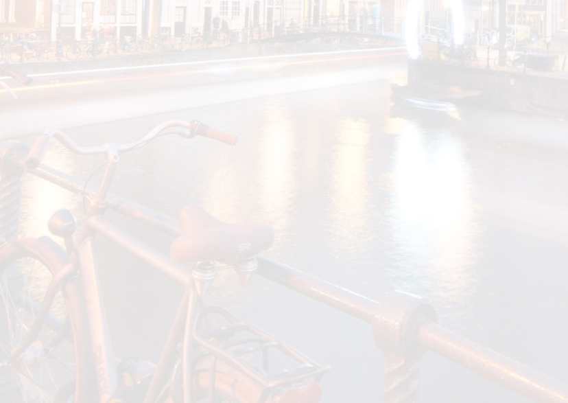 Kerstkaart- Amsterdamse gracht 3