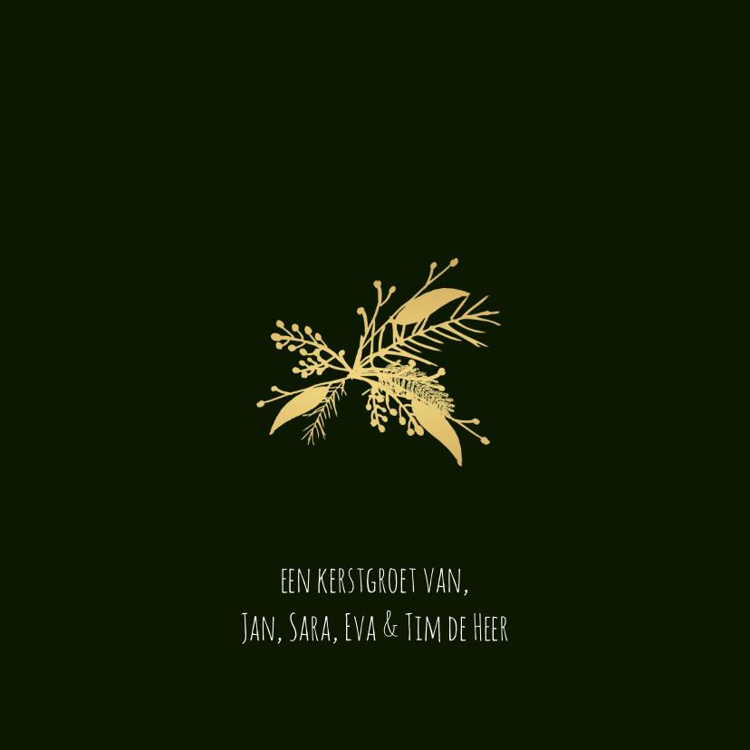 Kerstkaart blaadjes - HM 3