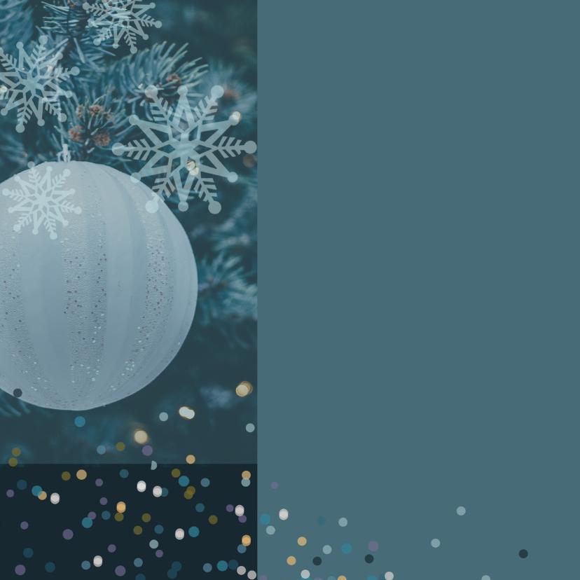 Kerstkaart blauwe takken 2