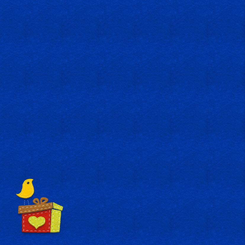 Kerstkaart - Boom met knopen 2