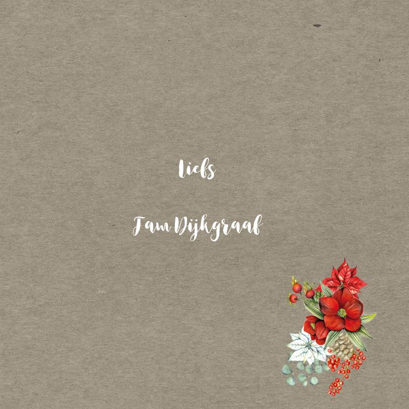 Kerstkaart botanische kerstbloemen 3