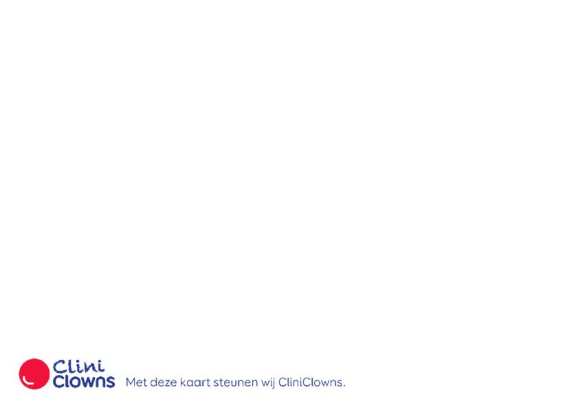 Kerstkaart CliniClowns Kerstman 2