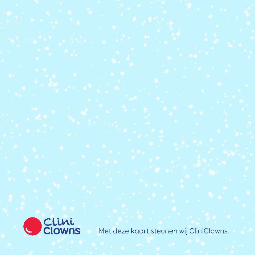 Kerstkaart CliniClowns sneeuwman 2