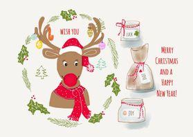 Kerstkaarten - Kerstkaart CliniClowns Wishes