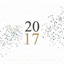Nieuwjaarskaarten - Kerstkaart confetti grafisch av