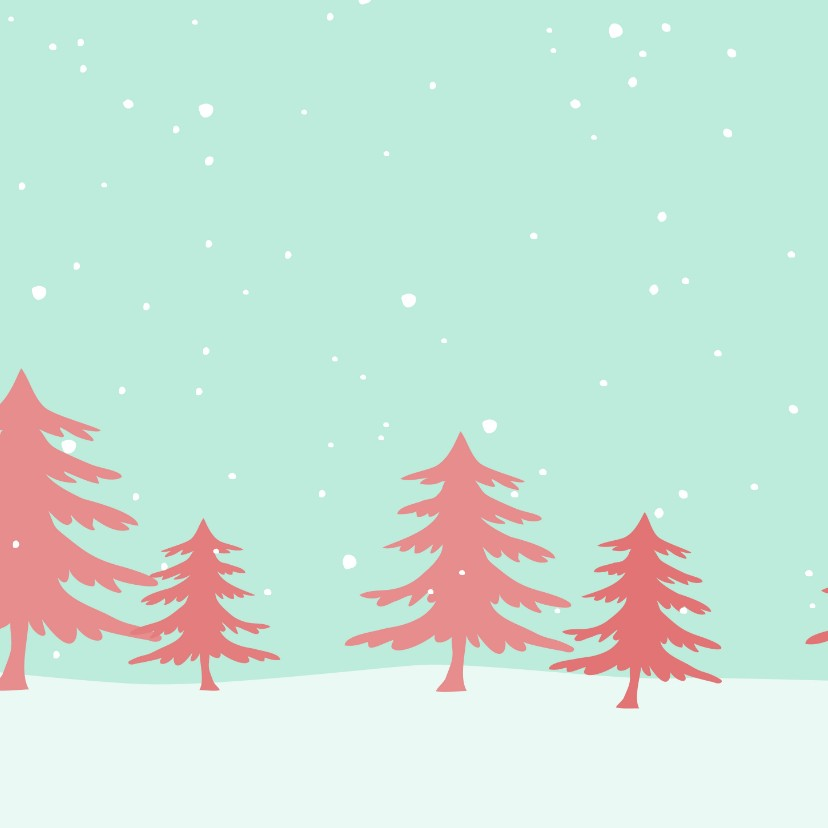 Kerstkaart  denneboom 2