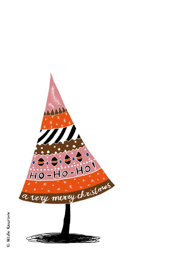 Kerstkaart doodles retro-HR 2