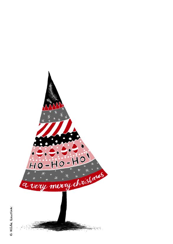 Kerstkaart doodles zwart rood-HR 2