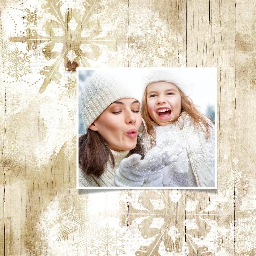 Kerstkaart duurzaam hout 2019 engel 2