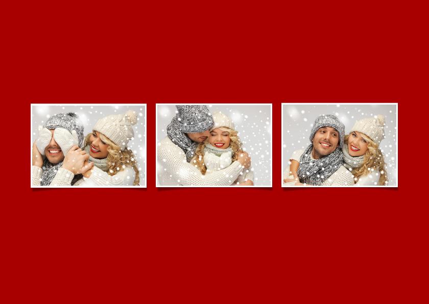 Kerstkaart eigen foto rood 2