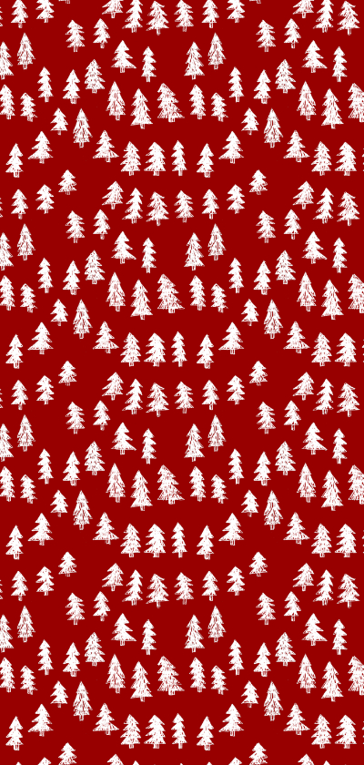 Kerstkaart Elegant Kerst Dennentakjes Achterkant