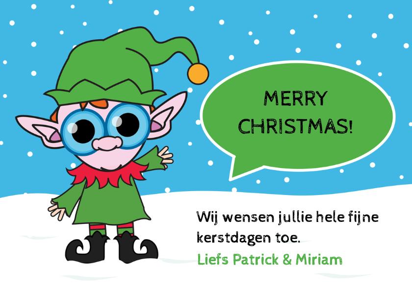 Kerstkaart - Elf - MG 3
