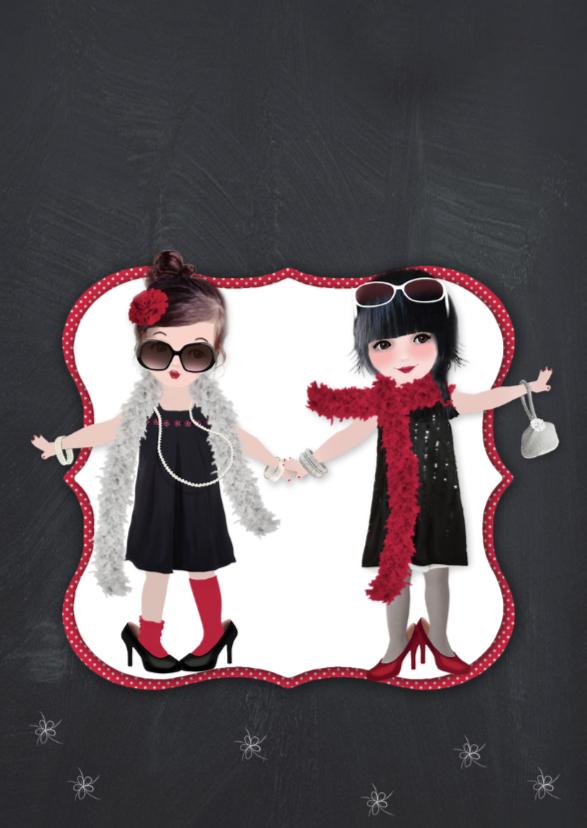 Kerstkaart Feest Loulou & Ting 2
