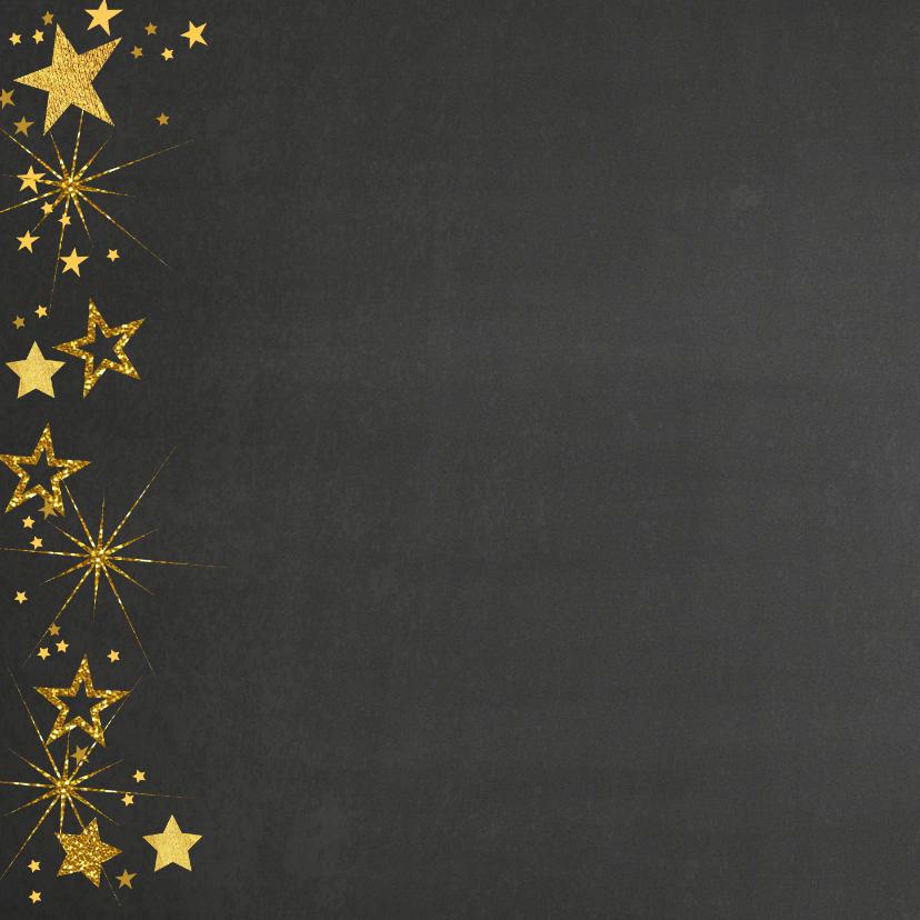 Kerstkaart feestelijke fotokaart gouden sterren 2
