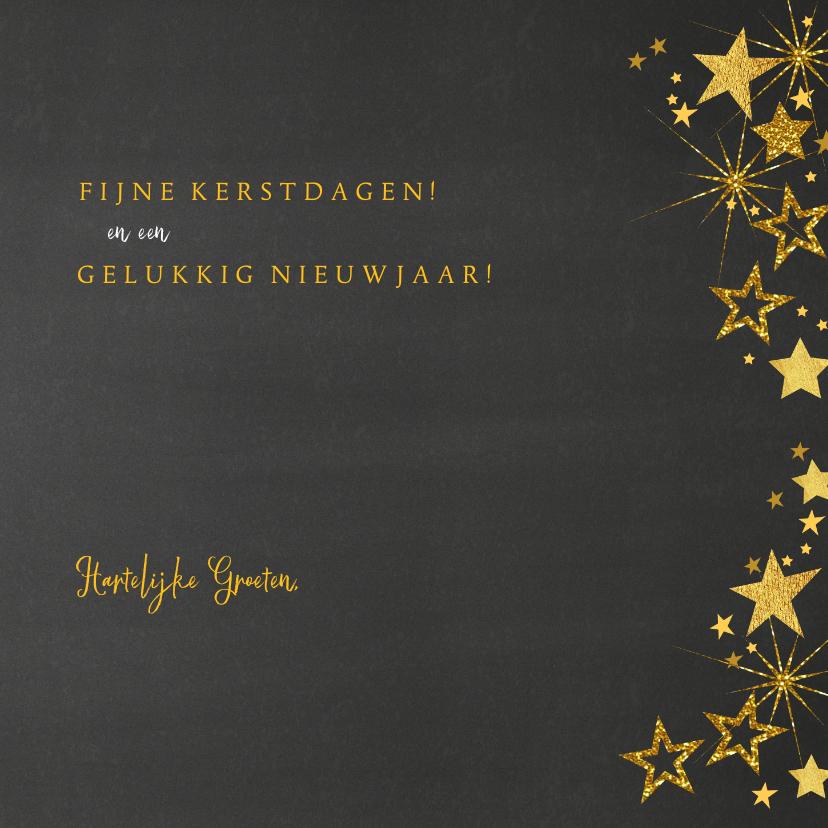Kerstkaart feestelijke fotokaart gouden sterren 3