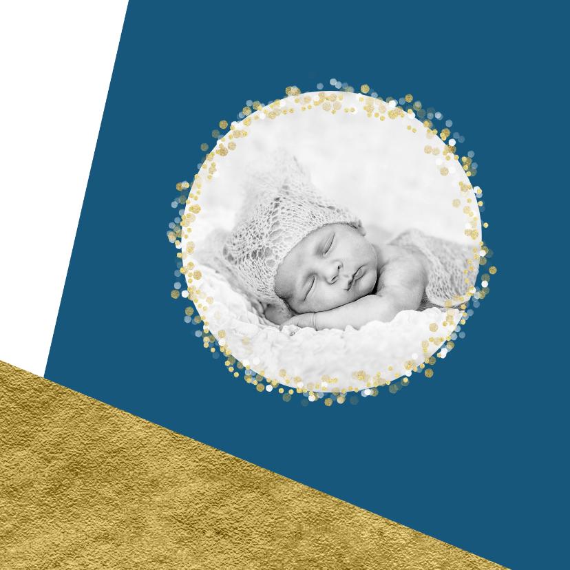 Kerstkaart foto confetti met aanpasbare achtergrondkleur OT 2