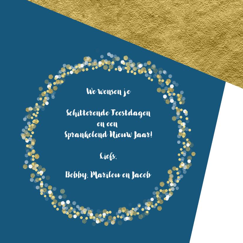 Kerstkaart foto confetti met aanpasbare achtergrondkleur OT 3