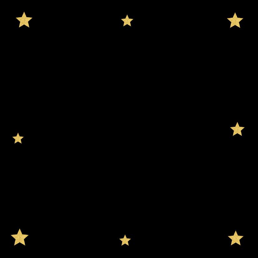 Kerstkaart foto gouden hartje en sterren  2