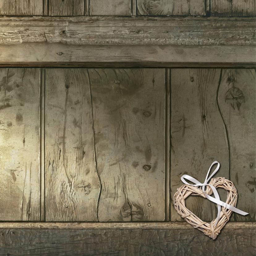 Kerstkaart foto hout ster 2018 - SG 2