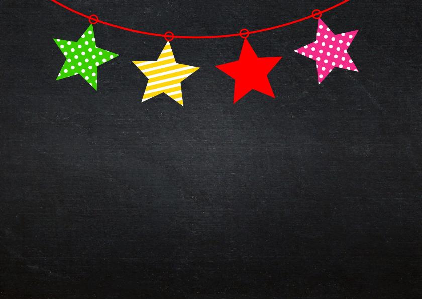 Kerstkaart foto krijtbord kleur 2