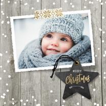 Kerstkaarten - Kerstkaart foto ster
