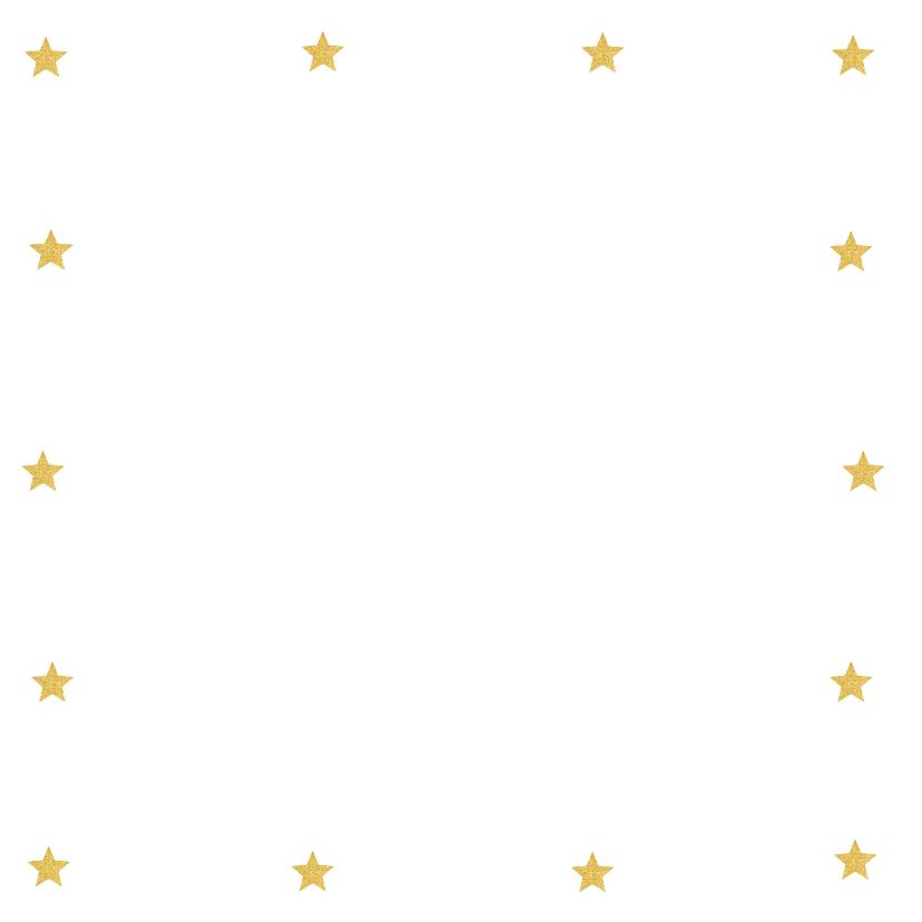 Kerstkaart foto sterren goud banner 2