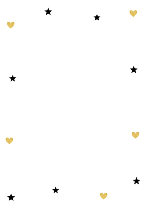 Kerstkaart foto sterren goud - LB 2