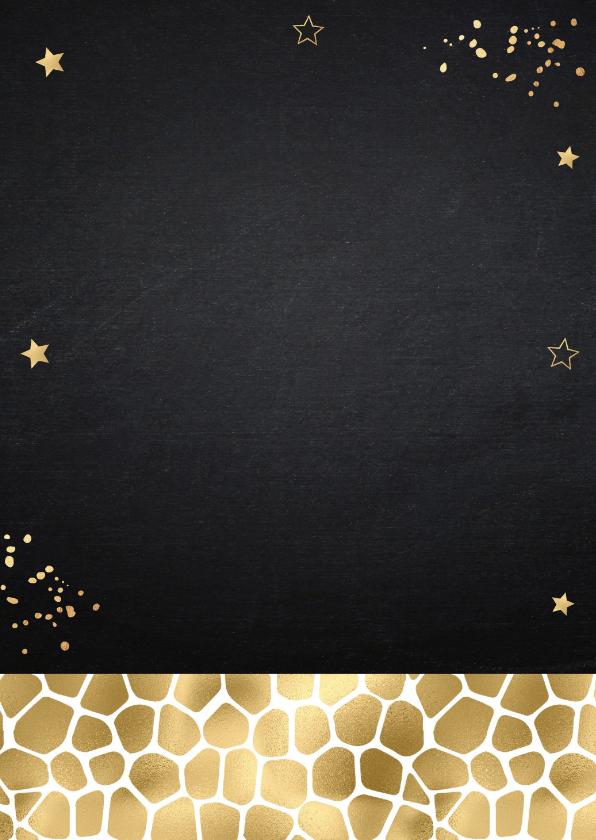 Kerstkaart fotocollage confetti goud krijtbord 2