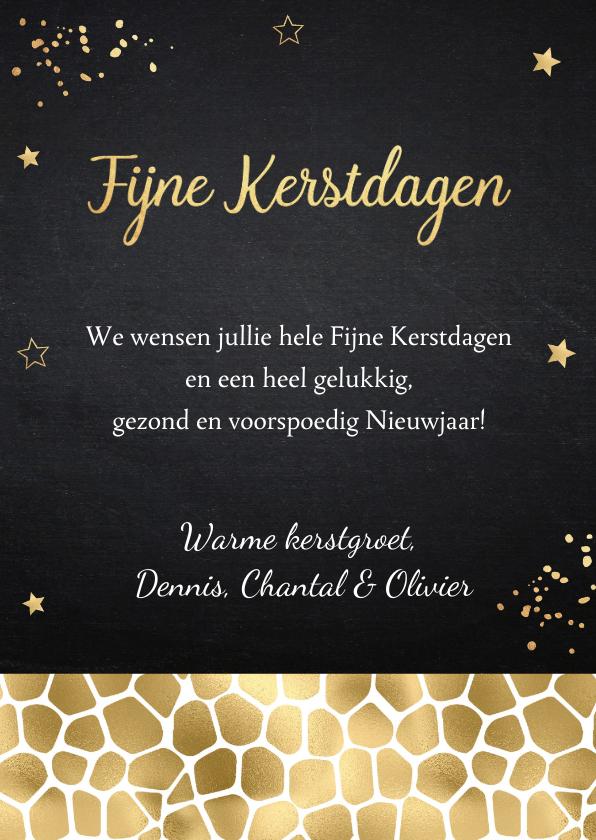 Kerstkaart fotocollage confetti goud krijtbord 3
