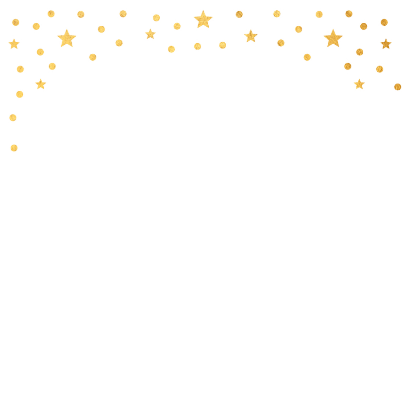 Kerstkaart fotocollage confetti goud 2