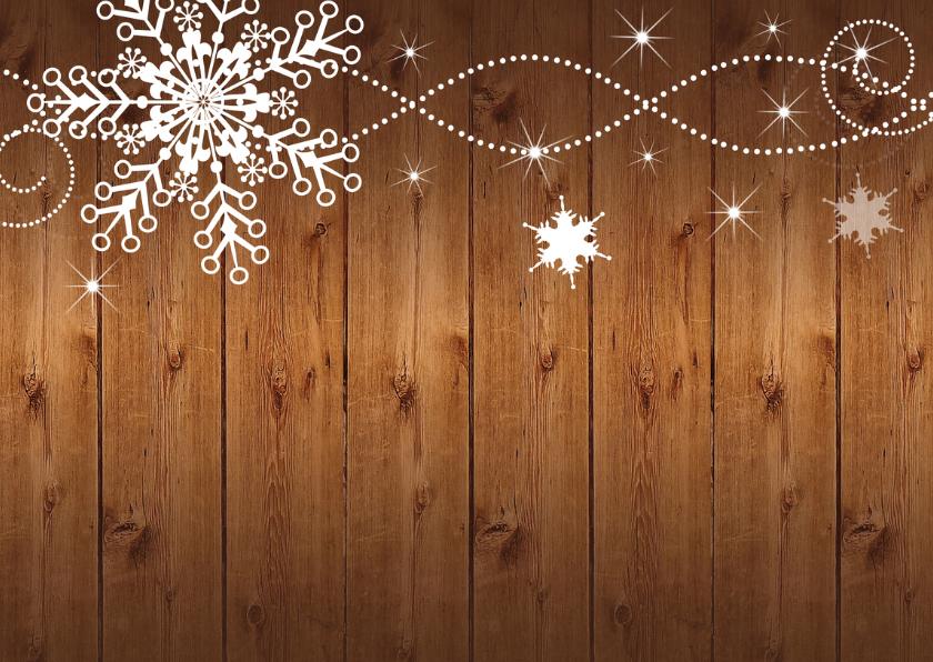 Kerstkaart fotocollage hout donker 2