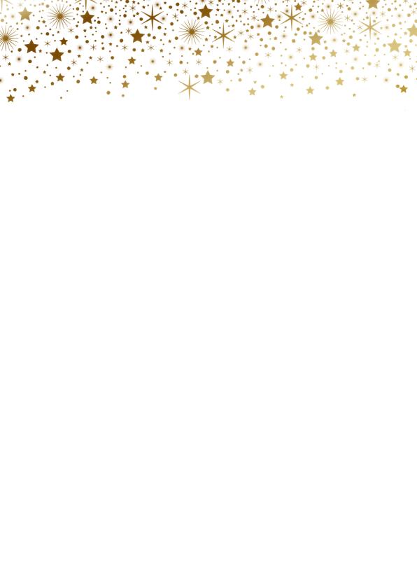 Kerstkaart fotostrip sterren goudlook  2